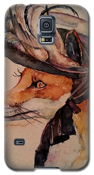 Galaxy S5 Case featuring the painting Henrietta Fox by Christy  Freeman