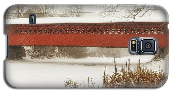 Henry Covered Bridge In Winter Galaxy S5 Case