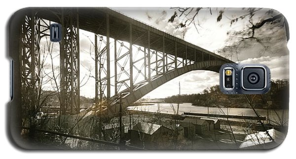 Galaxy S5 Case featuring the photograph Henry Hudson Bridge, 1936 by Cole Thompson