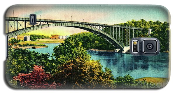 Henry Hudson Bridge Postcard Galaxy S5 Case by Cole Thompson