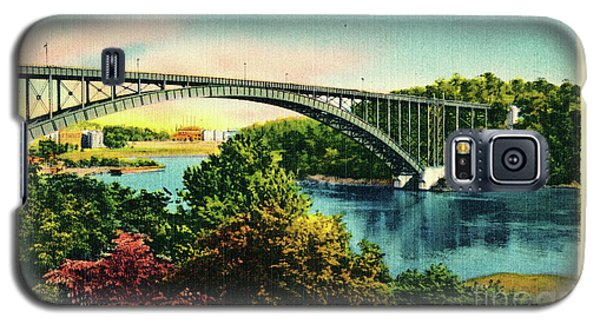 Galaxy S5 Case featuring the photograph Henry Hudson Bridge Postcard by Cole Thompson