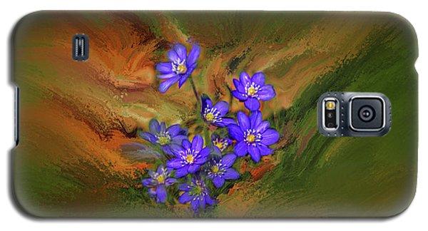 Hepatica Nobilis Painterly #h4 Galaxy S5 Case