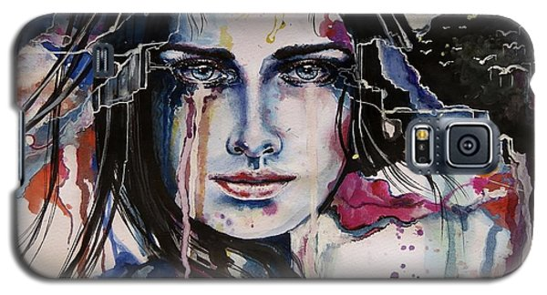 Galaxy S5 Case featuring the painting Her Sacrifice by Geni Gorani