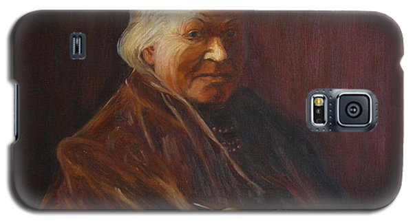 Galaxy S5 Case featuring the painting Herbert Abrams Mother by Quwatha Valentine