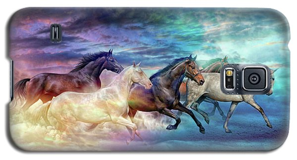 Herd Of Horses In Pastel Galaxy S5 Case