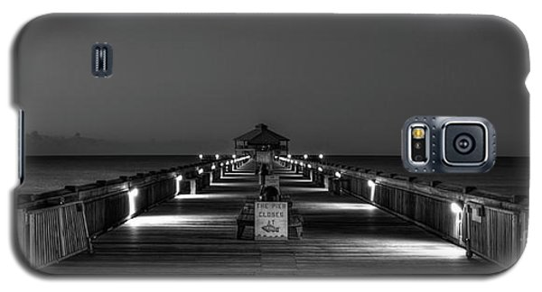Galaxy S5 Case featuring the photograph Here It Comes Folly Beach Pier Sunrise Art by Reid Callaway