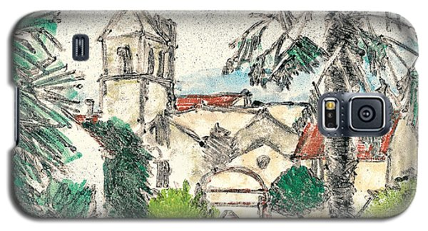 Galaxy S5 Case featuring the painting Herepian Village In Provence by Martin Stankewitz