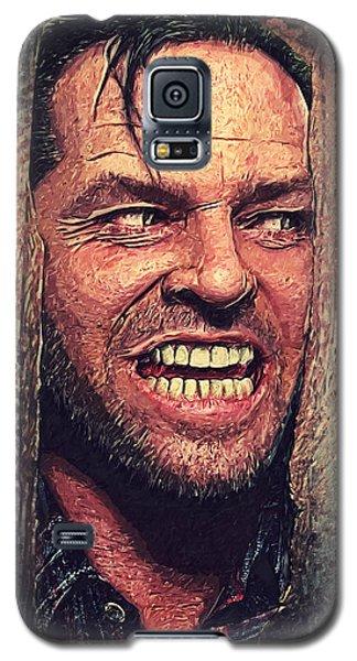 Here's Johnny - The Shining  Galaxy S5 Case by Taylan Apukovska
