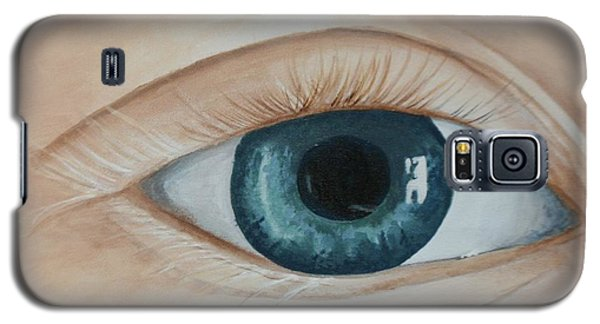 Galaxy S5 Case featuring the painting Heres Looking At You by Betty-Anne McDonald
