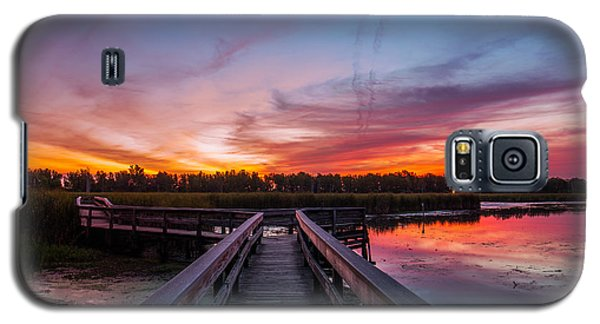 Galaxy S5 Case featuring the photograph Heritage Boardwalk Twilight by Chris Bordeleau
