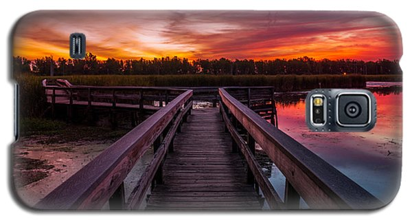 Heritage Boardwalk Twilight - Square Galaxy S5 Case by Chris Bordeleau