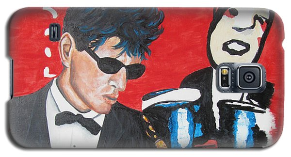 Galaxy S5 Case featuring the painting Herman Brood Jamming With His Art by Jeepee Aero