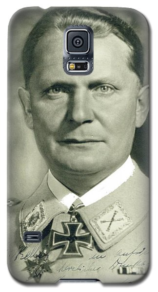 Herman Goering Autographed Photo 1945 Color Added 2016 Galaxy S5 Case
