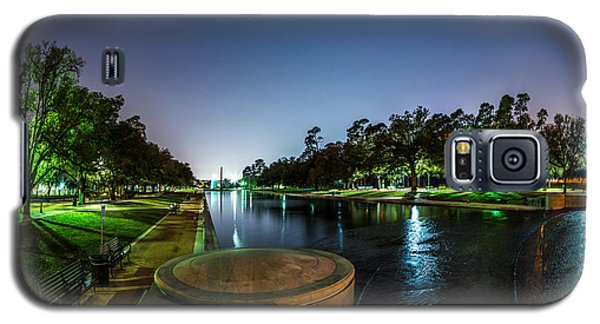 Hermann Park Reflecting Pool In Houston Texas Galaxy S5 Case by Micah Goff