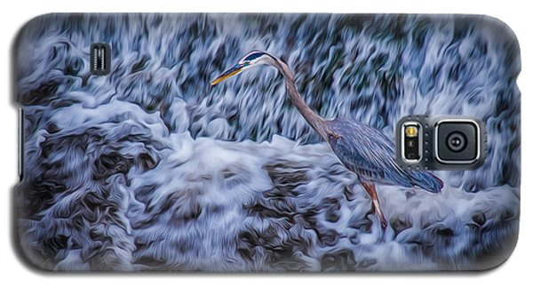 Galaxy S5 Case featuring the photograph Heron Falls by Rikk Flohr
