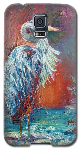 Heron In Color Galaxy S5 Case