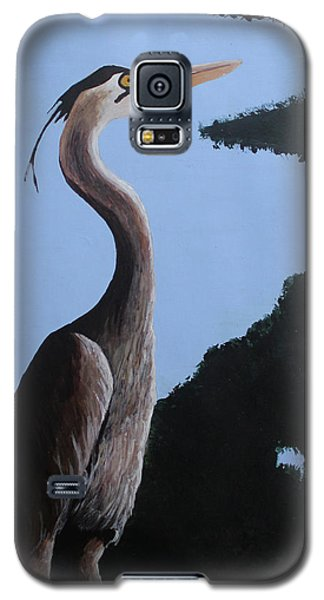 Heron In The Trees Galaxy S5 Case