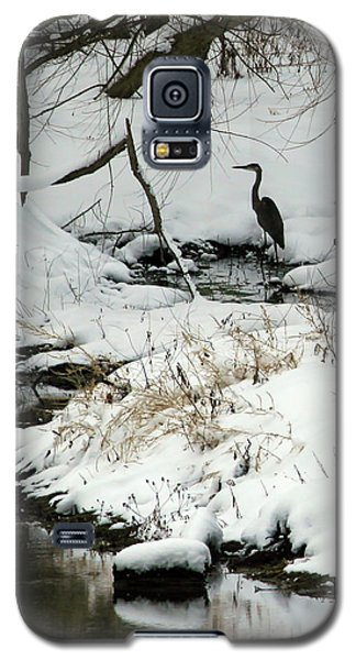 Heron In Winter Galaxy S5 Case