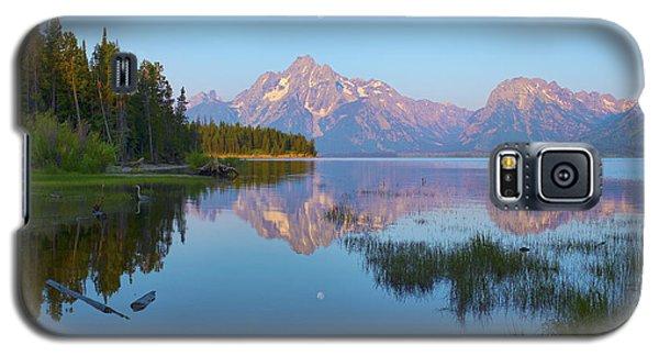 Heron On Jackson Lake Galaxy S5 Case