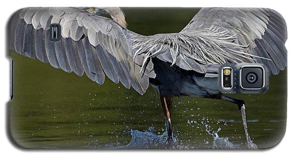 Heron On The Run Galaxy S5 Case