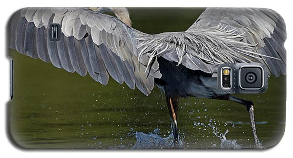 Heron On The Run Galaxy S5 Case