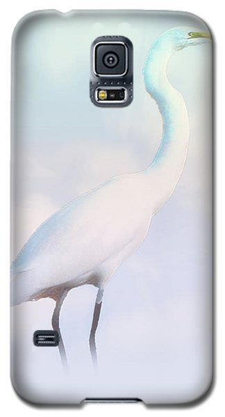 Heron Or Egret Stance Galaxy S5 Case by Joseph Hollingsworth