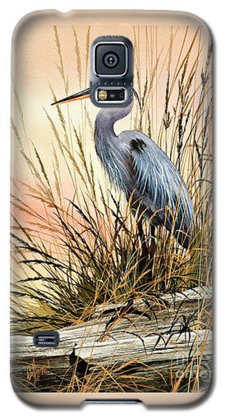 Heron Sunset Galaxy S5 Case