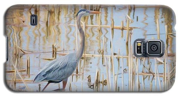 Galaxy S5 Case featuring the photograph Heron - Wetlands  by Nikolyn McDonald