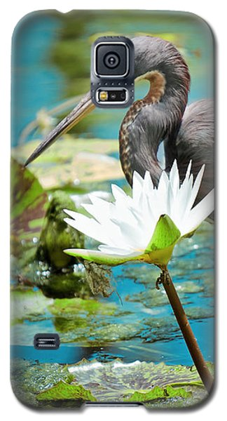 Heron With Water Lillies Galaxy S5 Case