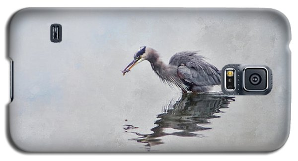 Heron Fishing  - Textured Galaxy S5 Case