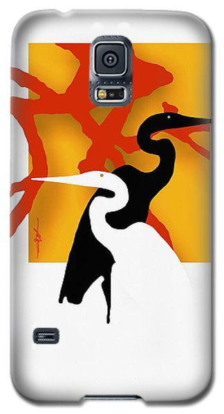 Herons  Galaxy S5 Case by Bob Salo