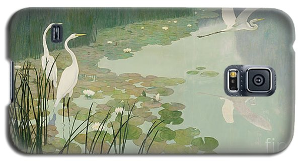 Herons In Summer Galaxy S5 Case by Newell Convers Wyeth