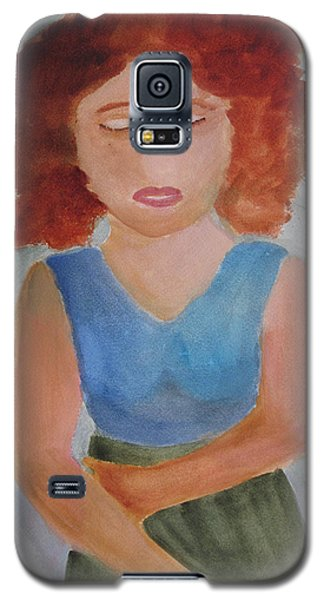 Galaxy S5 Case featuring the painting Herself by Sandy McIntire