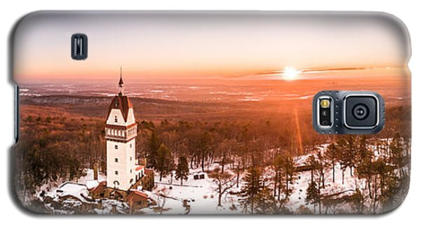 Heublein Tower In Simsbury Connecticut, Winter Sunrise Panorama Galaxy S5 Case by Petr Hejl