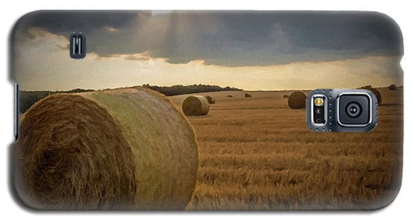 Hey Bales And Sun Rays Galaxy S5 Case by David Dehner