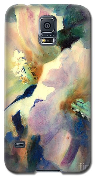 Galaxy S5 Case featuring the painting Hibicus Up Close by Kathy Braud