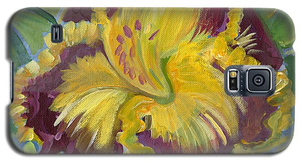 Galaxy S5 Case featuring the painting Hibiscus 2 by John Keaton