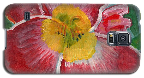 Galaxy S5 Case featuring the painting Hibiscus 3 by John Keaton