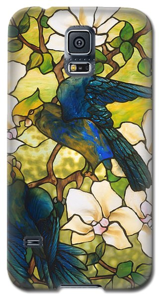 Hibiscus And Parrots Galaxy S5 Case