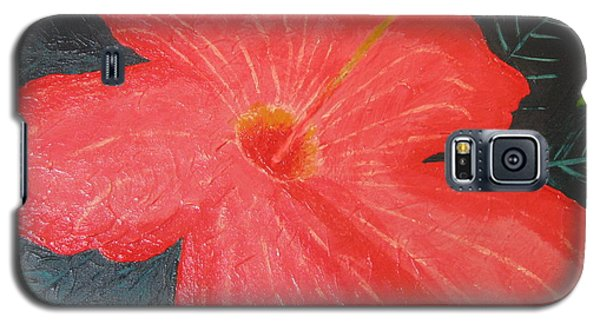 Galaxy S5 Case featuring the painting Hibiscus by Barbara Yearty
