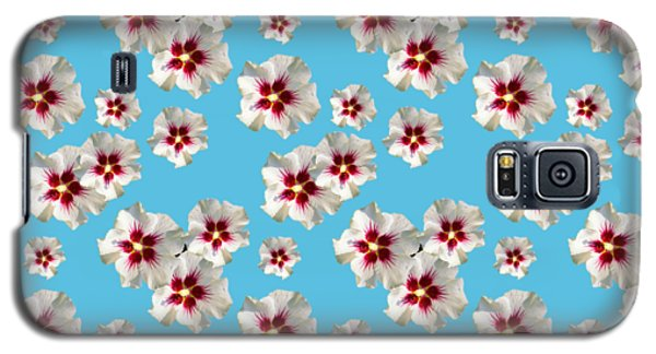 Galaxy S5 Case featuring the mixed media Hibiscus Flower Pattern by Christina Rollo