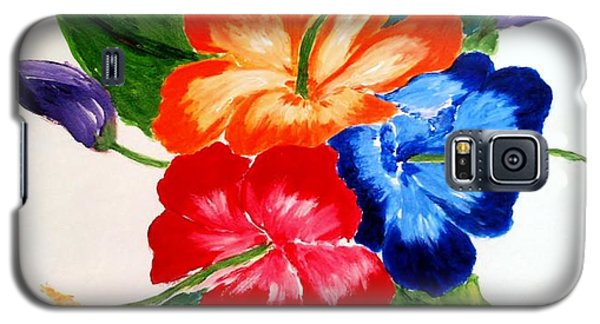 Galaxy S5 Case featuring the painting Hibiscus by Jamie Frier