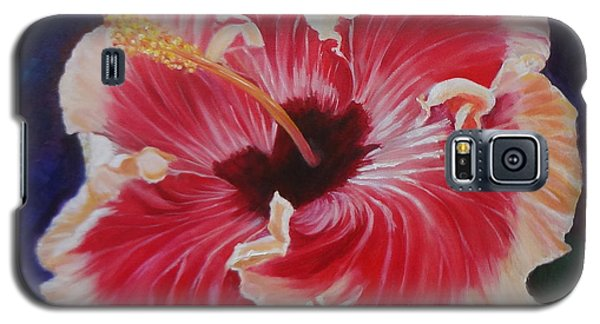 Galaxy S5 Case featuring the painting Hibiscus by Jenny Lee