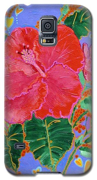 Hibiscus Motif Galaxy S5 Case