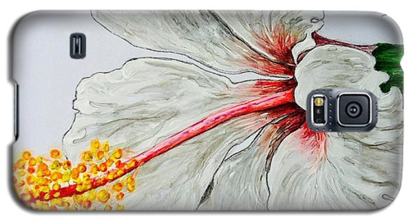 Hibiscus White And Red Galaxy S5 Case