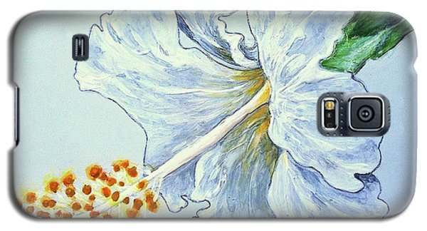 Hibiscus White And Yellow Galaxy S5 Case