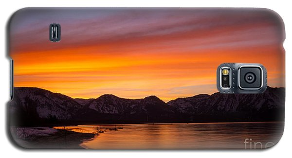 Hidden Beach Sunset Galaxy S5 Case by Mitch Shindelbower