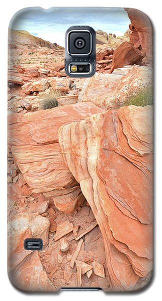 Galaxy S5 Case featuring the photograph Hidden Cove In Valley Of Fire by Ray Mathis