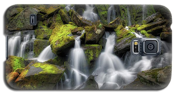 Galaxy S5 Case featuring the photograph Hidden Mossy Falls by Bill Wakeley