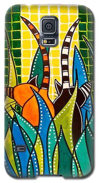 Hide And Seek - Cat Art By Dora Hathazi Mendes Galaxy S5 Case by Dora Hathazi Mendes